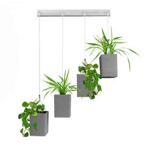 تصویر محصول آویز گلدان 4 شاخه خاکستری