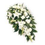 تصویر محصول سبد گل ترحیم رومیزی سفید رنگ