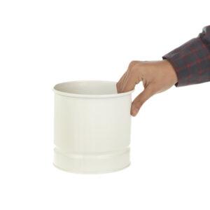 تصویر محصول گلدان فلزی سفید